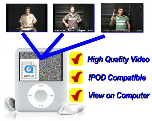 Video library IPOD compatible or view on your computer!