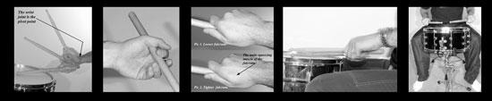 snare rudiment photos and rudimental drumming technique